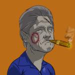 Undead Presidents Bill Clinton Werewolf in Blue Dress